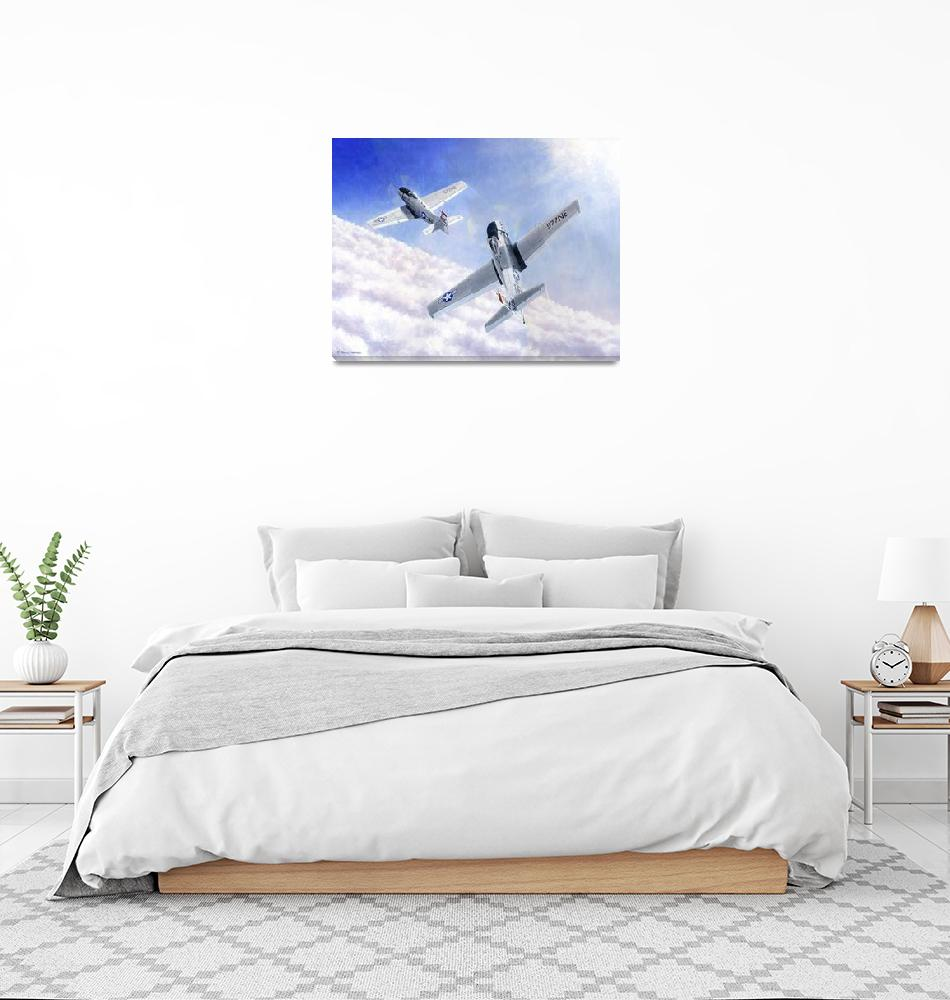 """""""Skyraiders Above Clouds""""  (2006) by DNCartist"""