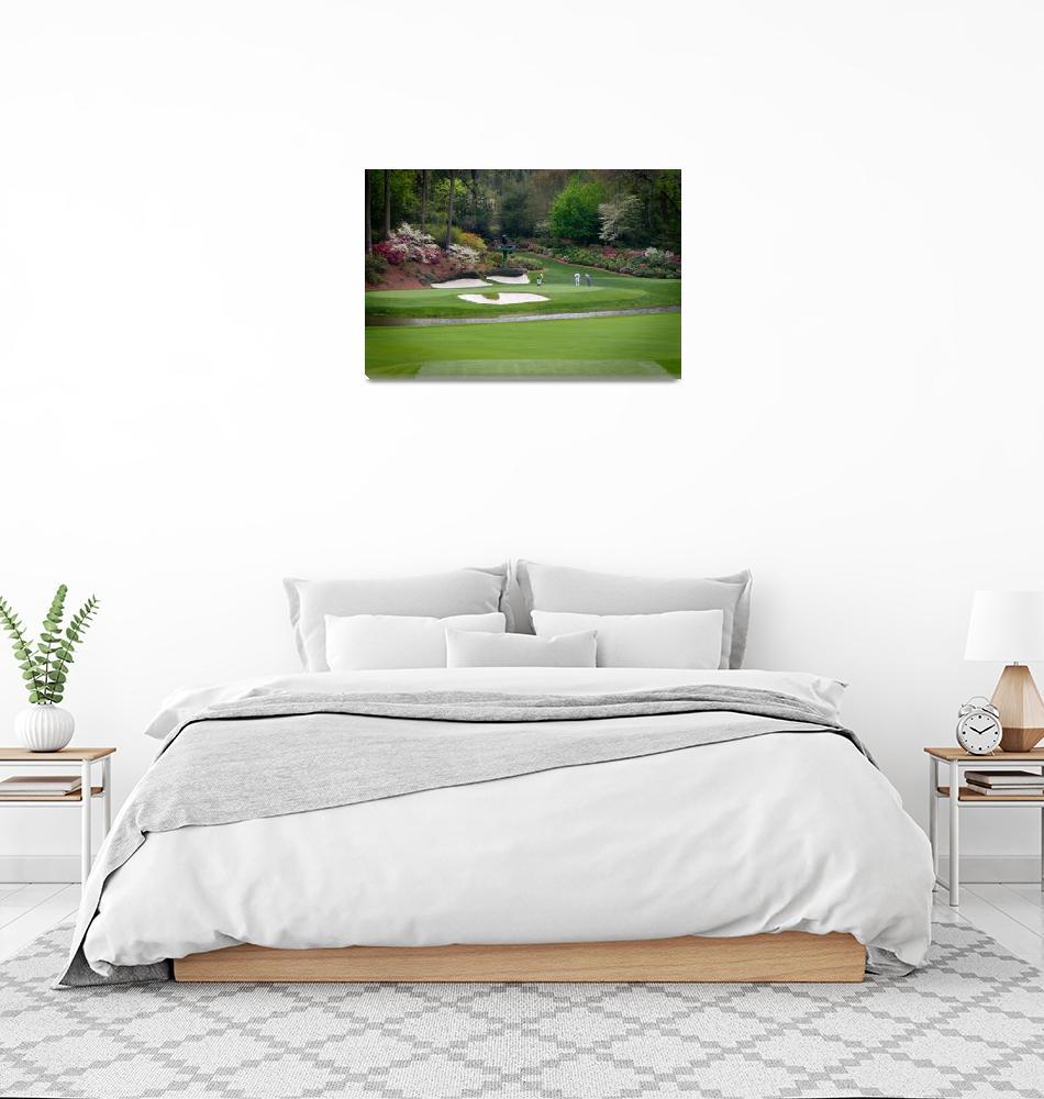"""Augusta Amen Corner Golf Picture Golfers PGA""  by AngelWingsArt"