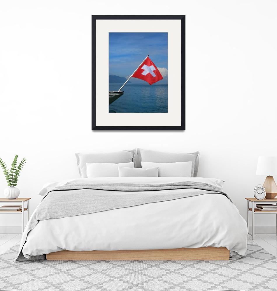 """""""Swiss flag""""  (2008) by Riviera"""