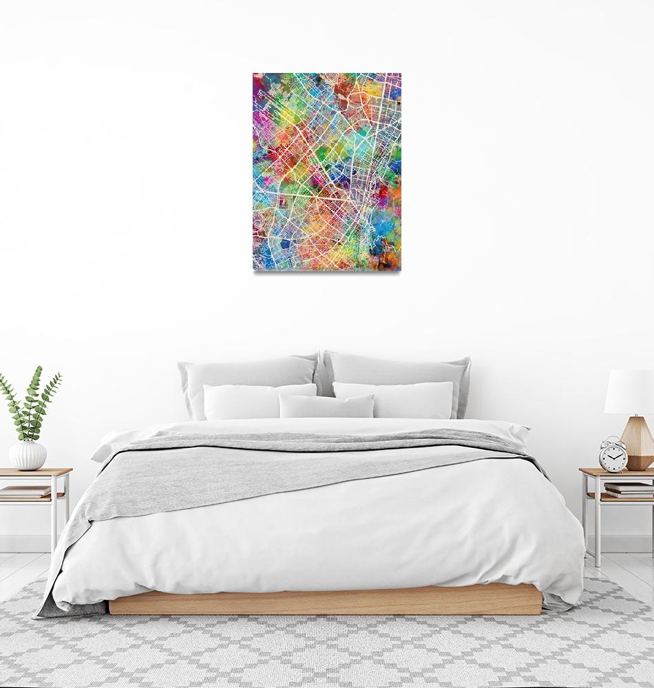 """Bogota Colombia City Map""  (2018) by ModernArtPrints"