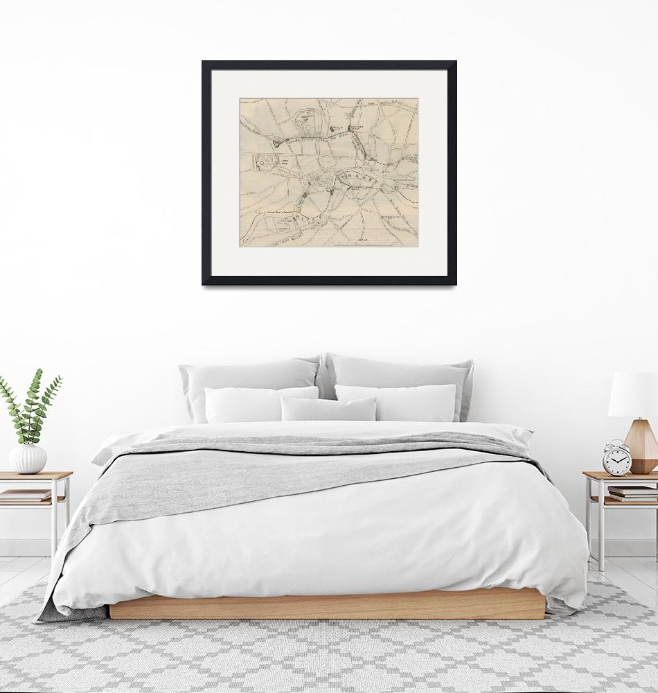 """""""Antique Map of the London Undergound""""  by fineartmasters"""