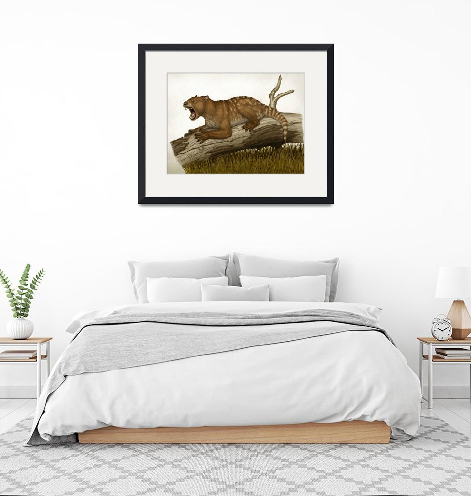 """""""Thylacoleo carnifex, a marsupial and apex predator""""  by stocktrekimages"""