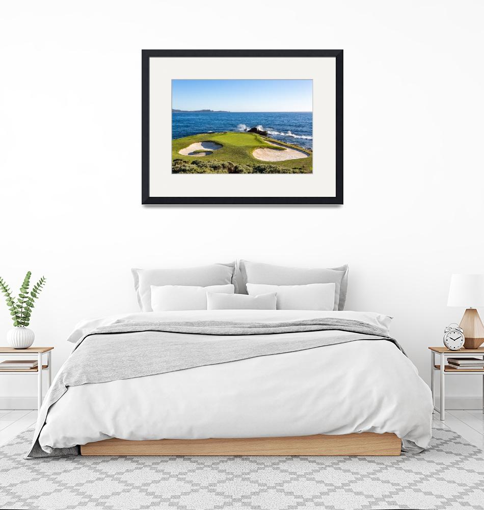 """Pebble Beach Golf Course, Hole #7""  (2019) by centioliphotography"