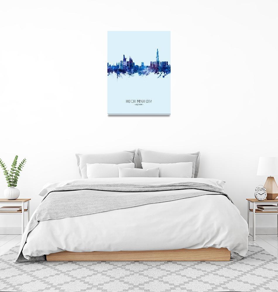 """""""Ho Chi Minh City Vietnam Skyline""""  (2019) by ModernArtPrints"""
