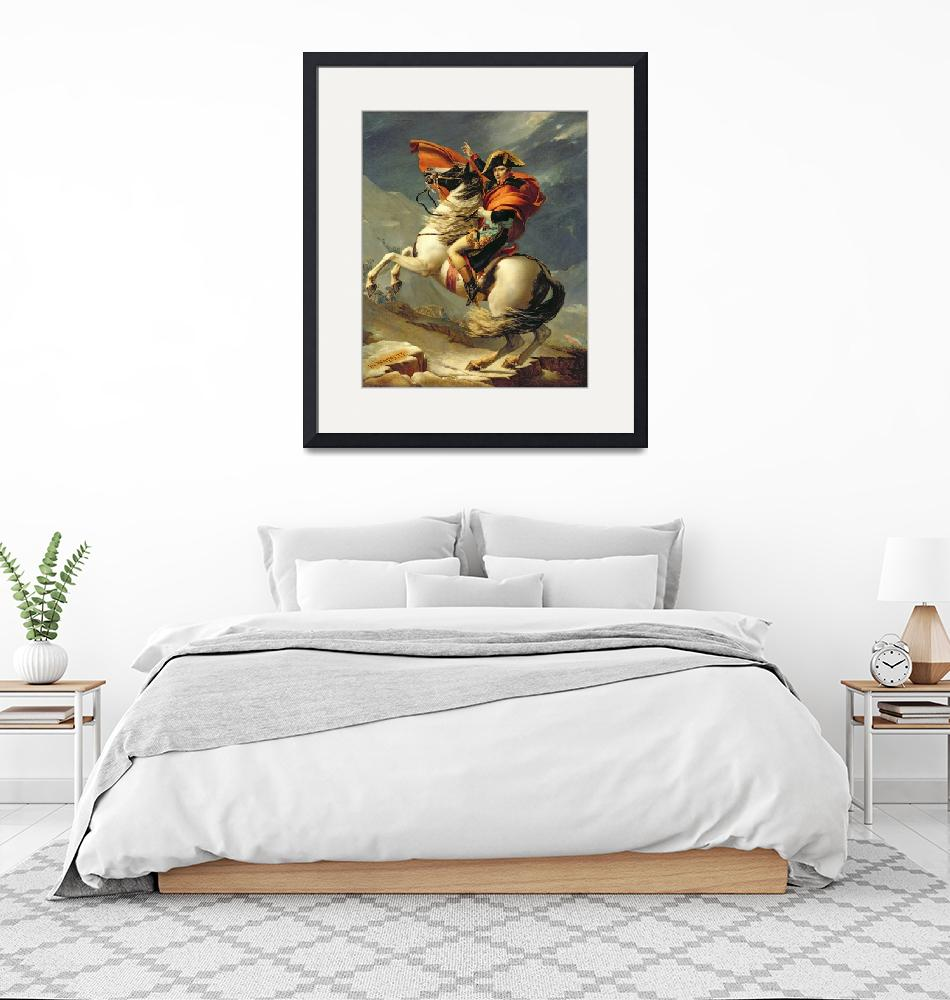 """Napoleon Crossing the Alps on 20th May 1800""  by fineartmasters"