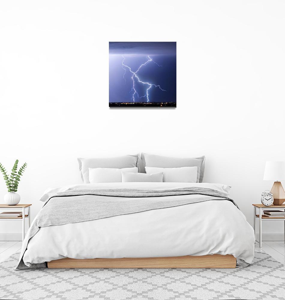 """X Lightning Bolts In The Sky""  (2011) by lightningman"