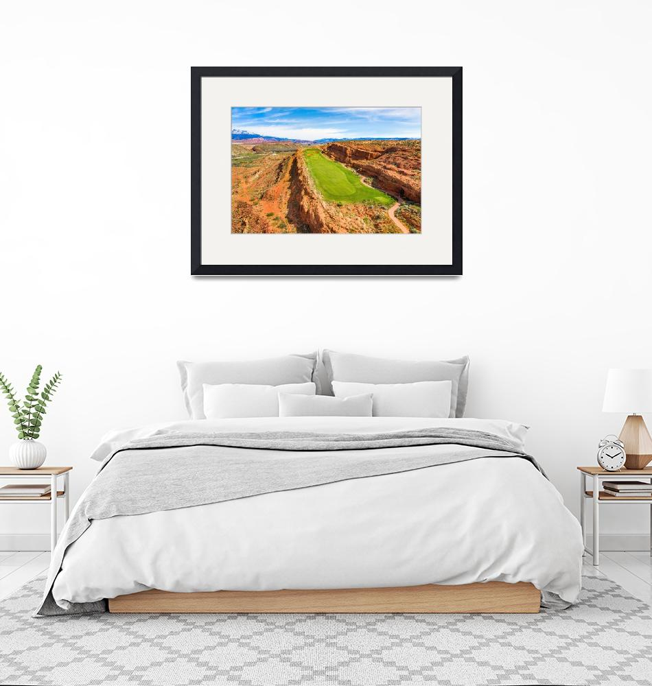 """""""Sand Hollow Golf Resort Hole 12""""  (2019) by centioliphotography"""