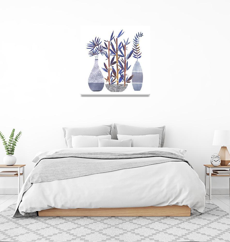 """""""Indigo Flora Trio""""  (2019) by moderntropical"""