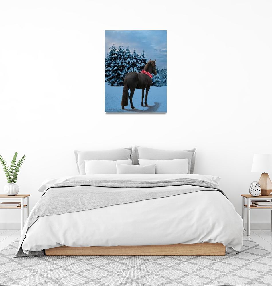 """""""Holiday Wish ~ Icelandic horse""""  (2009) by inkandbrushcreations"""