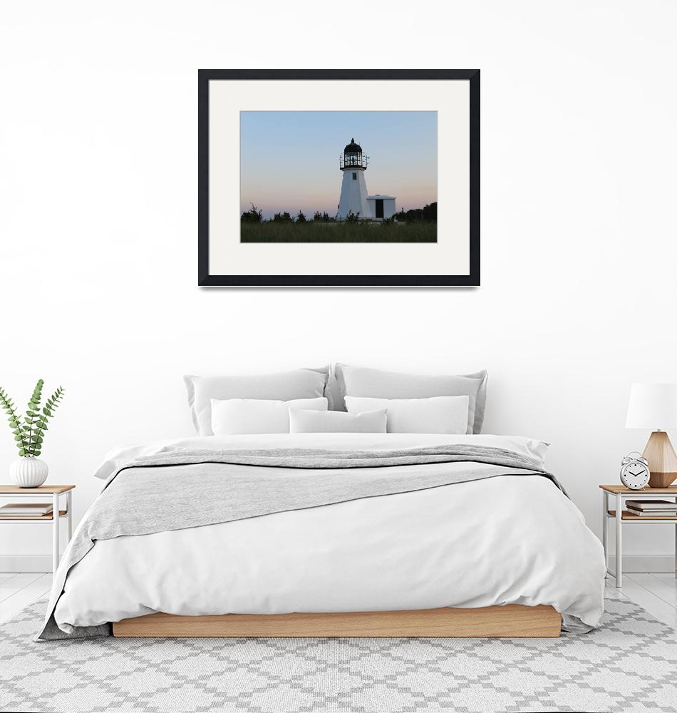 """""""Prudence Island Lighthouse""""  (2018) by FloweringFoxDesigns"""