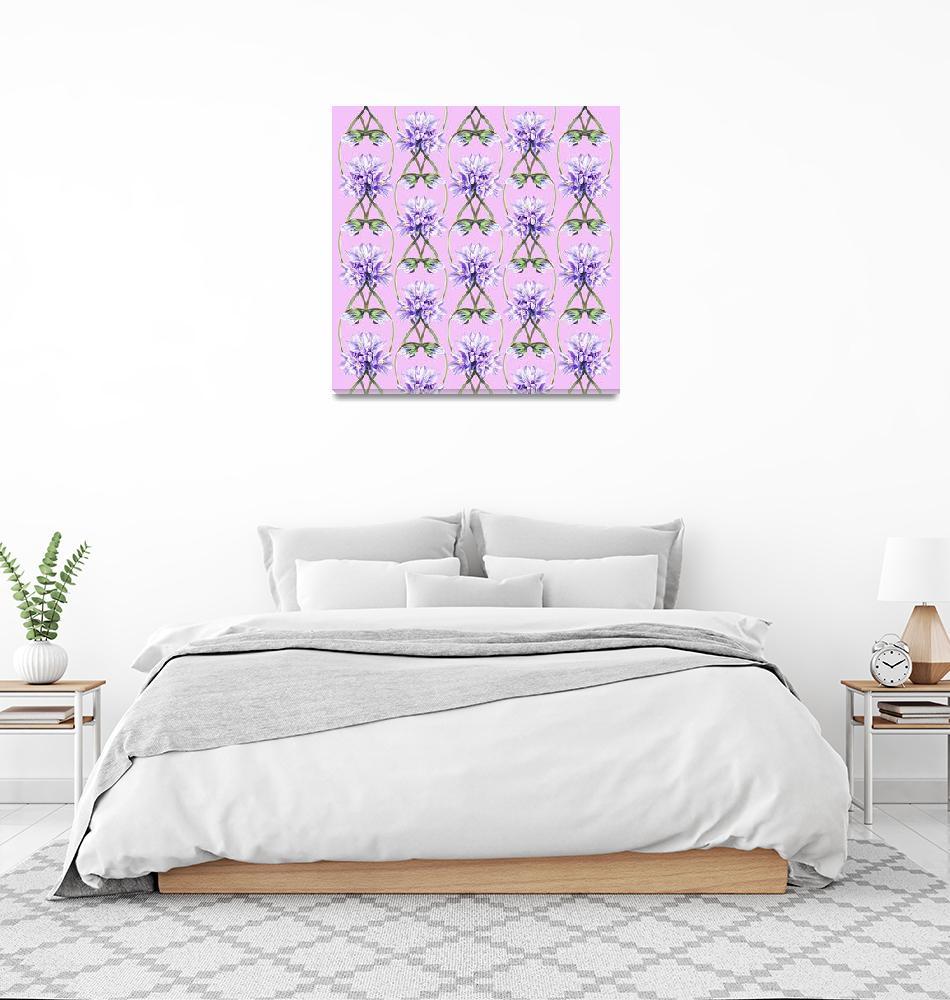 """Purple Flowers On The Lilac Field Pattern""  (2015) by IrinaSztukowski"