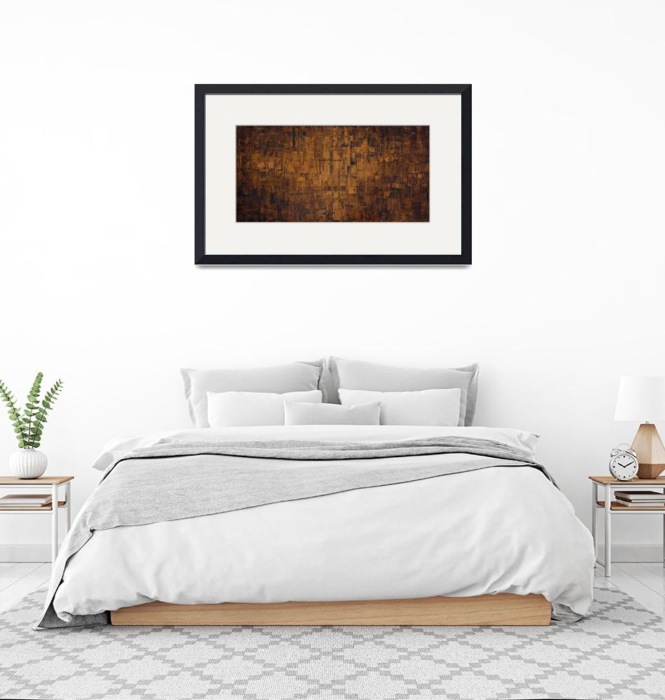 """""""Espresso brown abstract""""  (2015) by modernhouseart"""