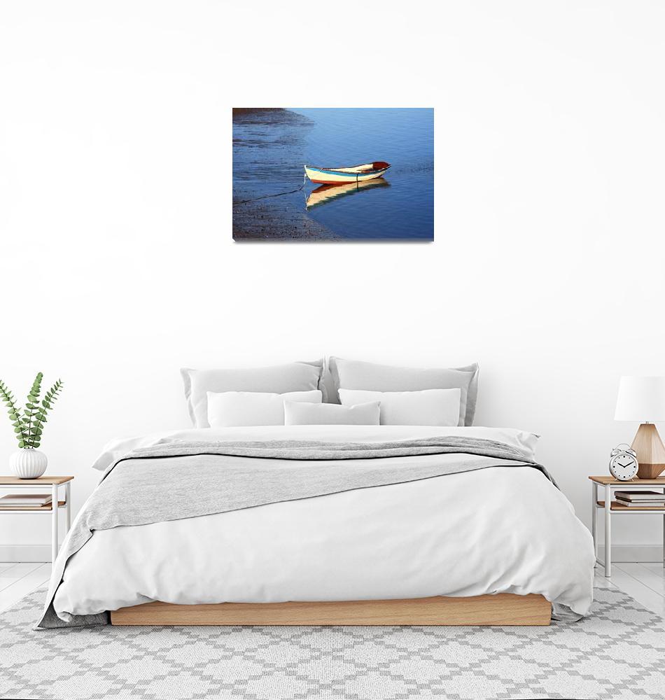 """Blue Boat Cape Cod Provincetown""  (2008) by dapixara"