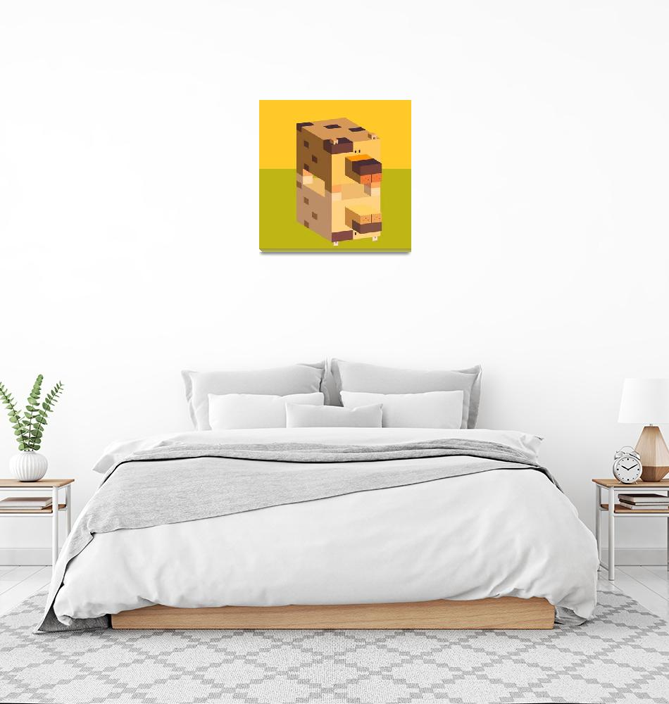 """""""square dog""""  (2008) by annielim"""