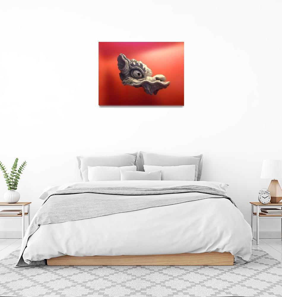 """Floating Dragon""  (2013) by RubinoFineArt"