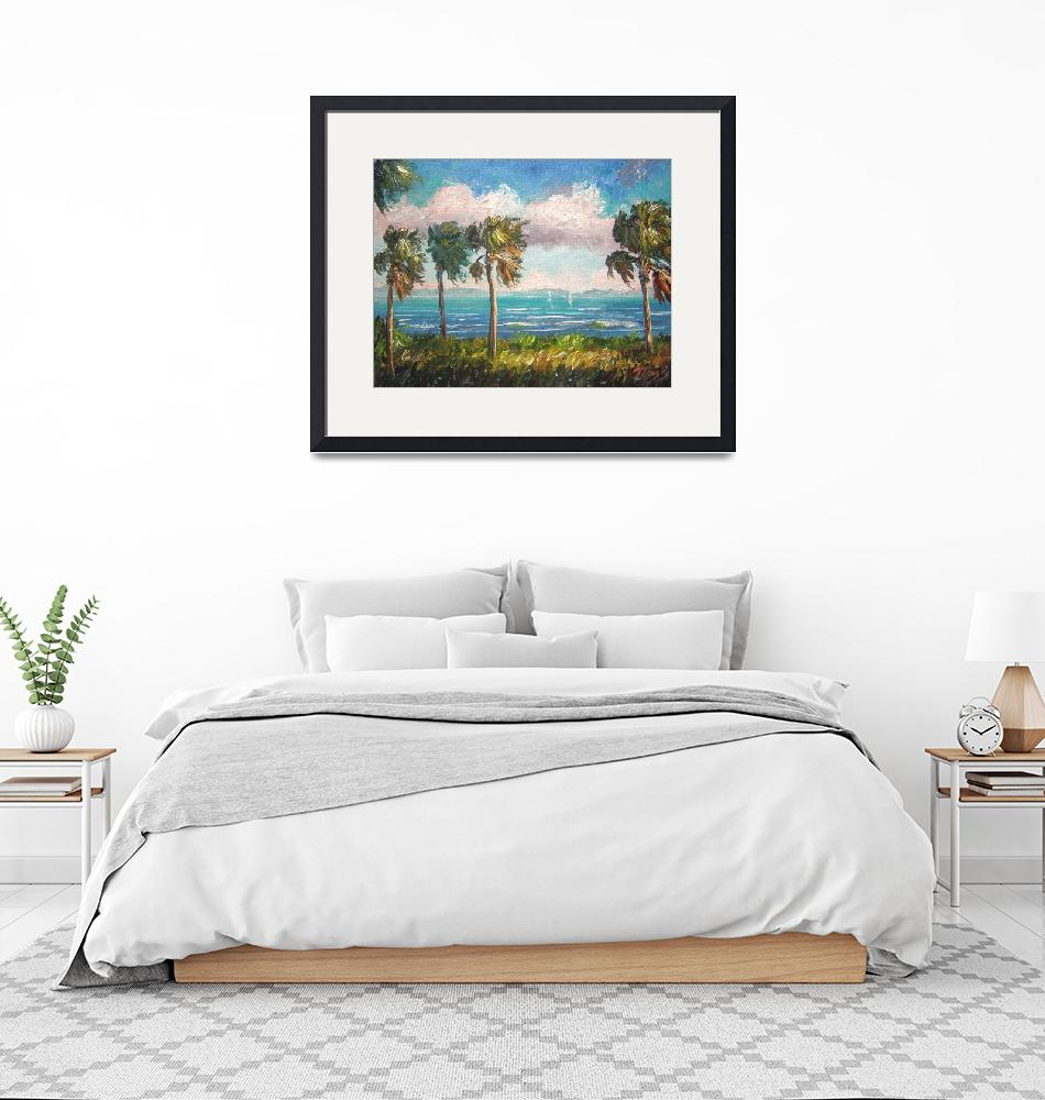 """""""Cabbage Palms along Indian River""""  (2009) by mazz"""