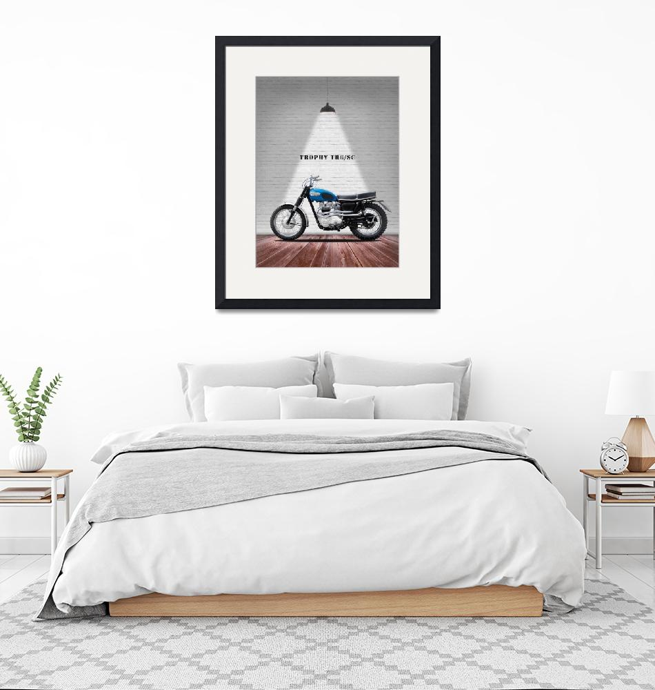 """""""The Triumph Trophy TR6SC Motorcycle""""  by mark-rogan"""