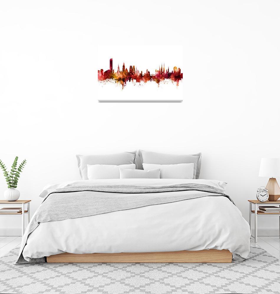 """Wroclaw Poland Skyline""  (2020) by ModernArtPrints"