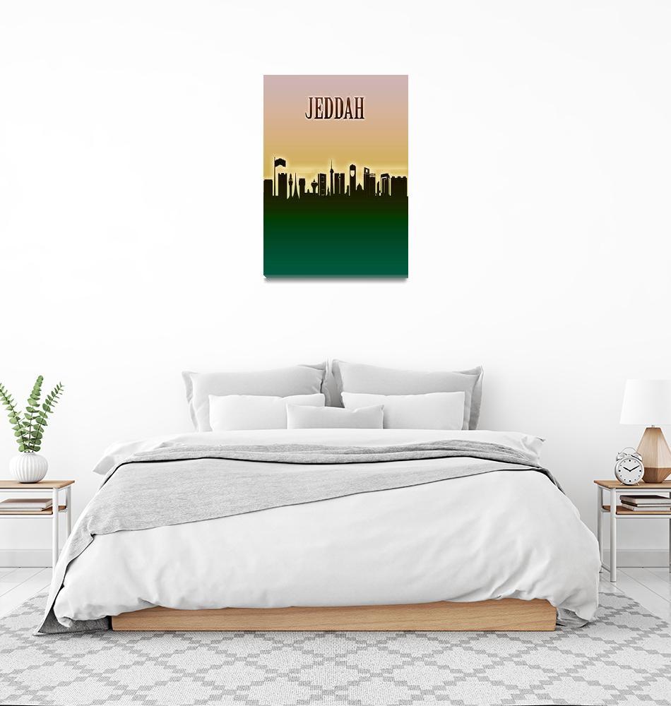 """""""Jeddah Skyline""""  by Towseef"""