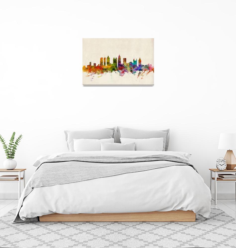 """""""Atlanta Georgia Skyline""""  (2013) by ModernArtPrints"""