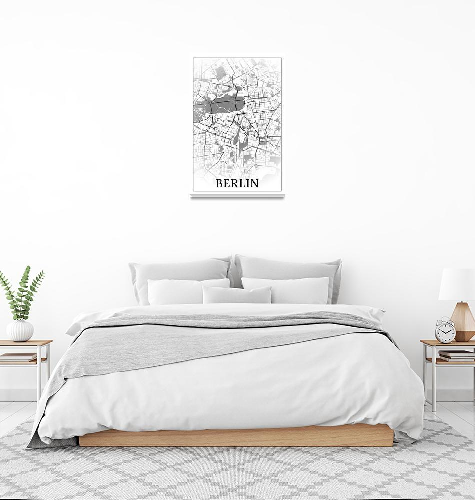 """Berlin, Germany, city map print.""  by dandistudio"