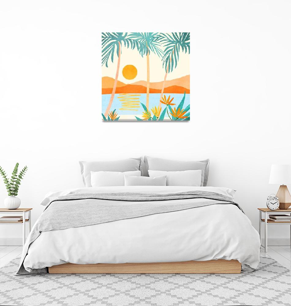 """""""Bali Sunset""""  (2020) by moderntropical"""