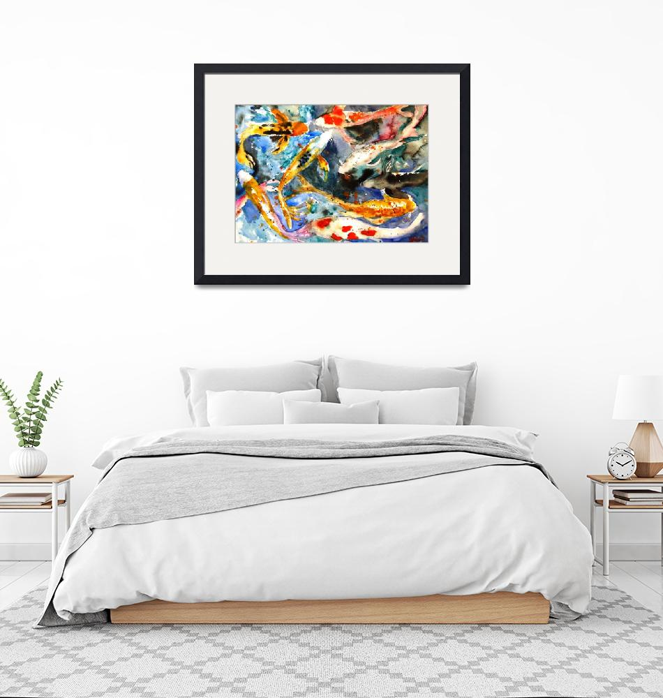 """""""Butterfly Koi, Abstract Watercolor Painting""""  (2010) by schulmanart"""