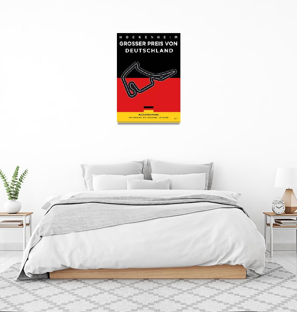 """""""My F1 Germany Race Track Minimal Poster""""  by Chungkong"""