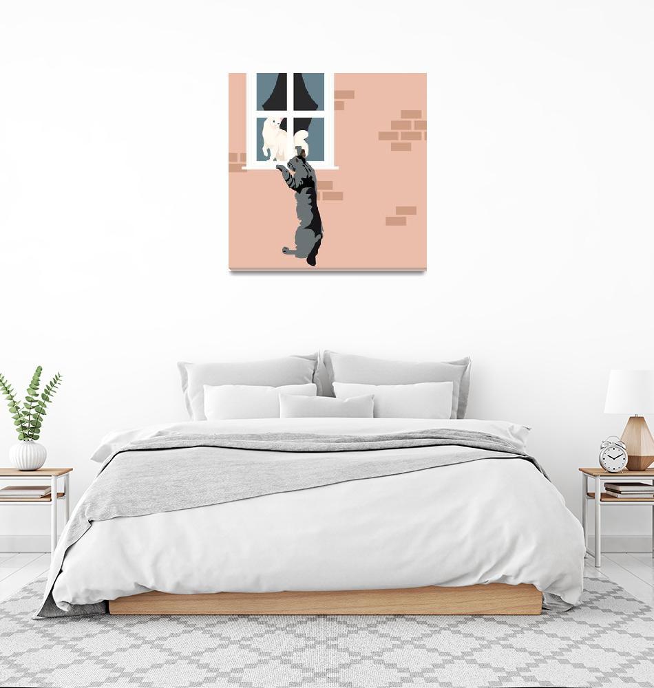 """""""Cat in love"""" (2018) by Design4uStudio"""