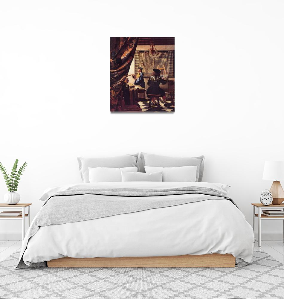 """""""The Allegory of Painting by Vermeer""""  by ArtLoversOnline"""