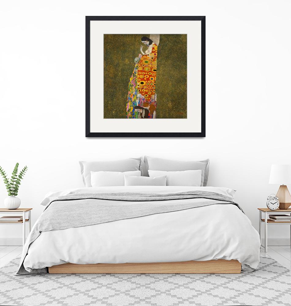 """Gustav Klimt Hope II""  by FineArtClassics"