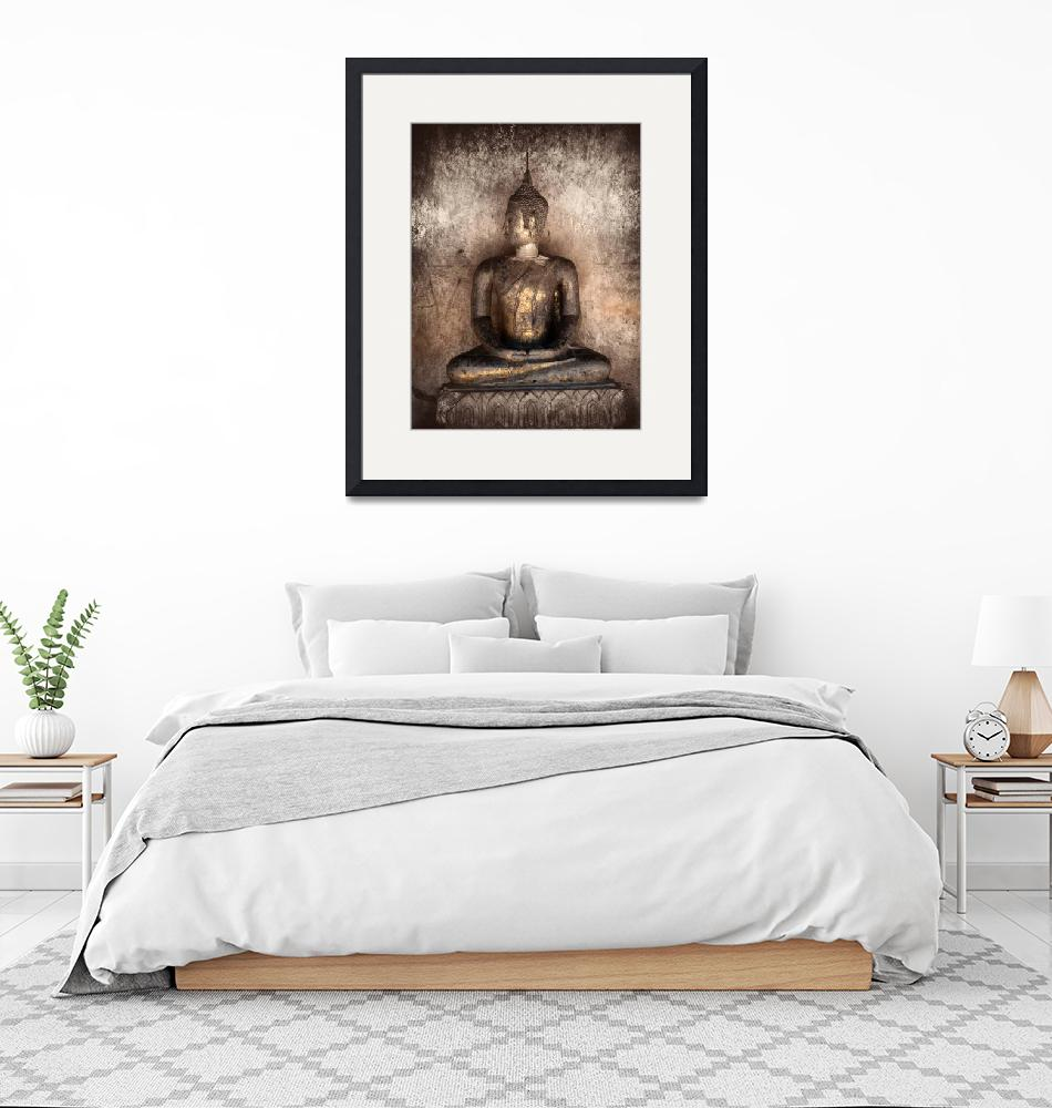 """""""Ancient statue of Buddha""""  (2011) by nuttakit"""