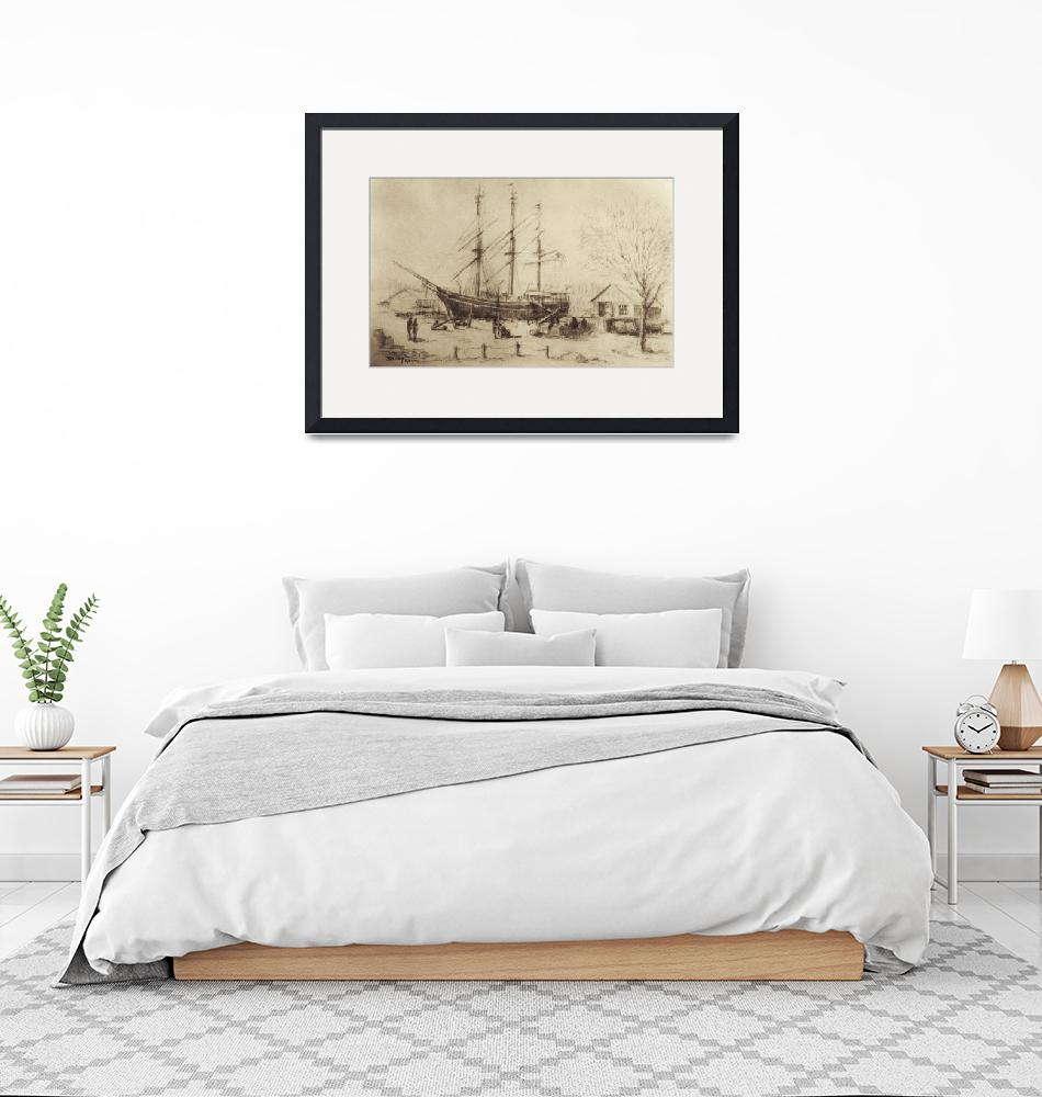 """Whaling Ship Charles W. Morgan""  (2007) by blaney"