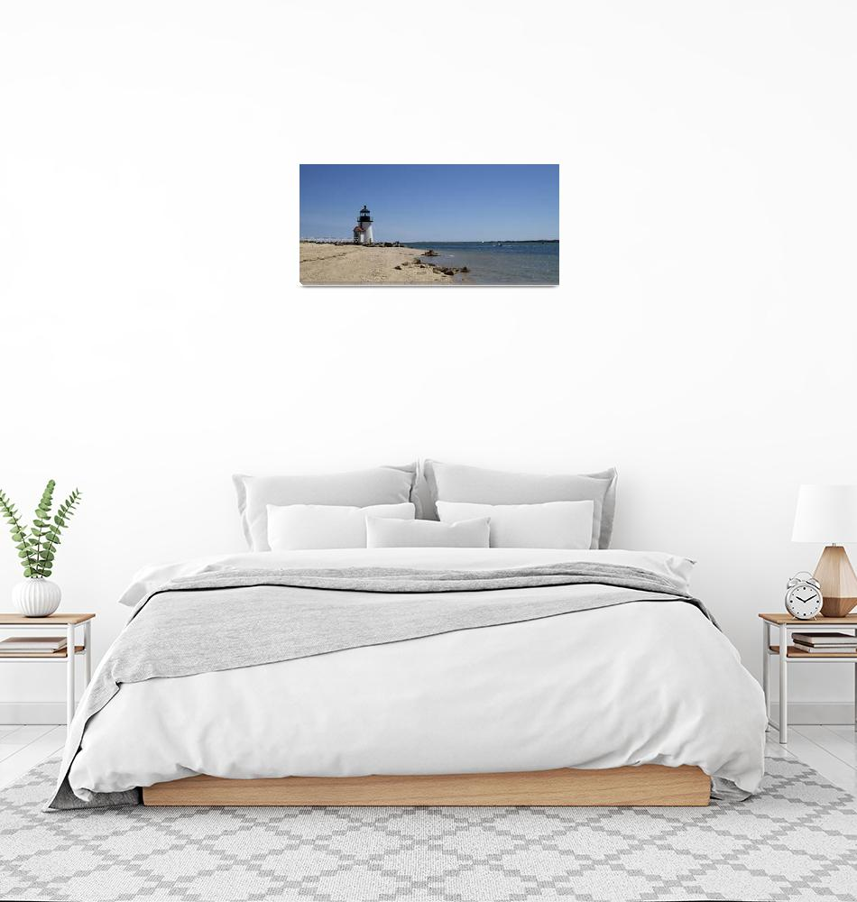 """""""Beach with a lighthouse in the background""""  by Panoramic_Images"""