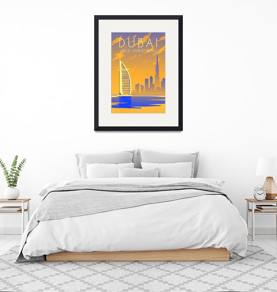 """""""Travel Poster of Dubai 149"""" by Arpina"""
