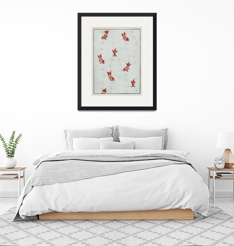 """""""Goldfish Print by Watanabe Seitei""""  by FineArtClassics"""