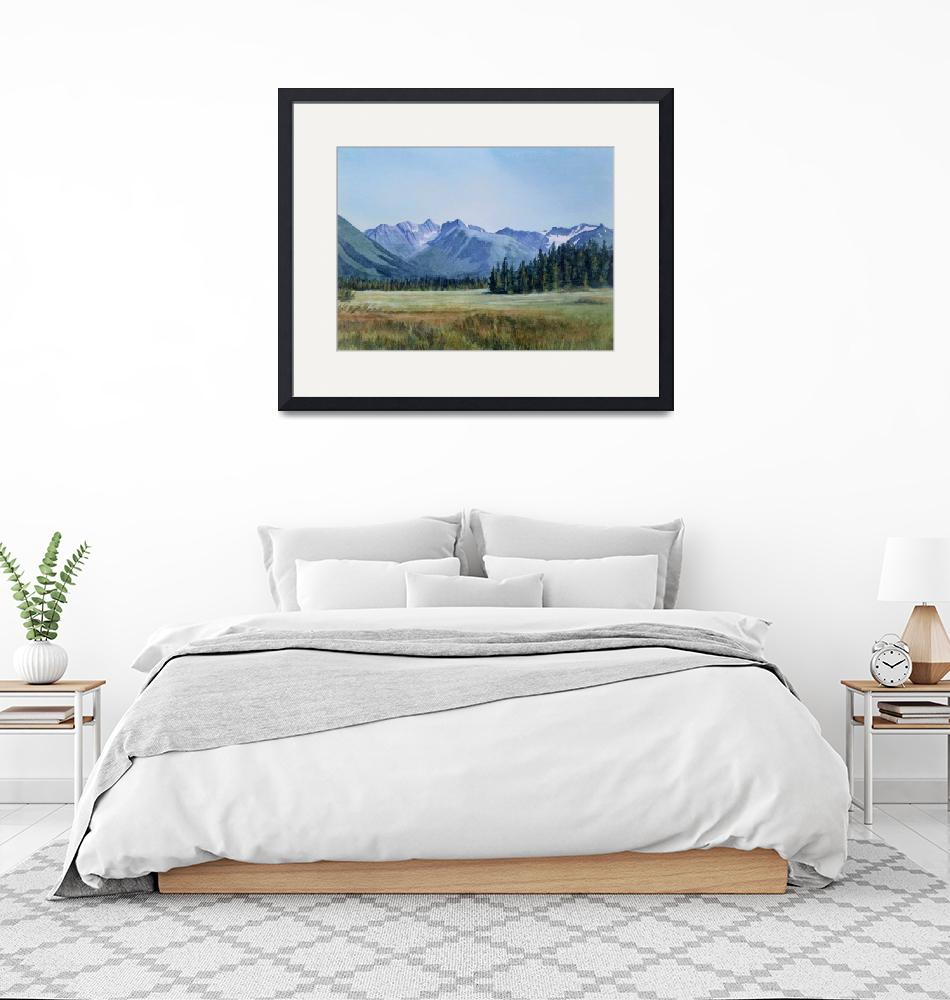 """Glacier Valley Meadow""  (2009) by Pacific-NW-Watercolors"