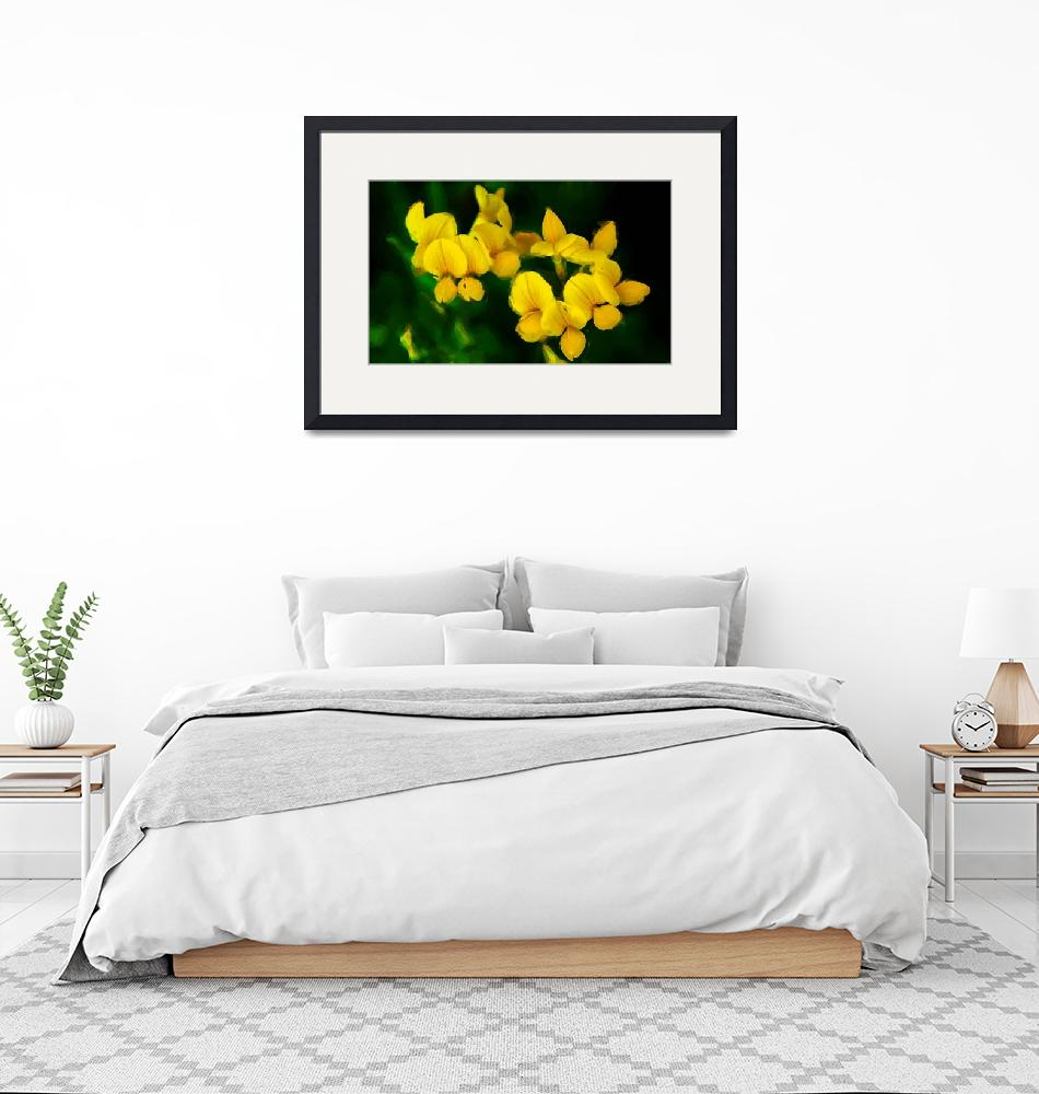 """Yellow Flowers_Painting""  (2008) by BuddhabellyDave"