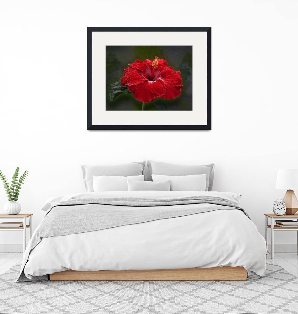 """""""Red Hibiscus""""  (2019) by GiorgettaMcRee"""