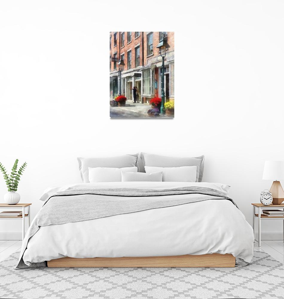 """""""Cities - Giving Directions South Street Seaport""""  by susansartgallery"""