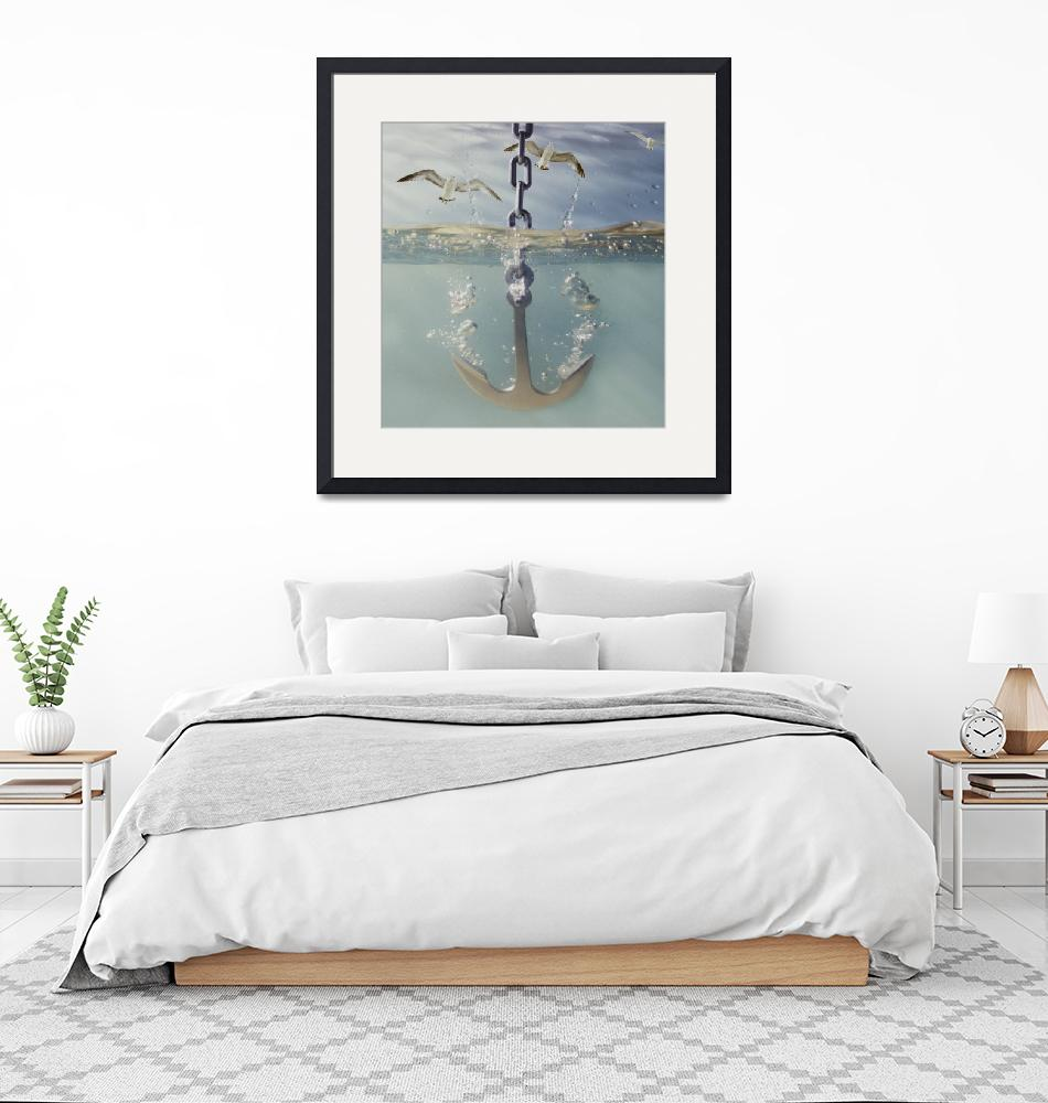 """""""anchor dropping into water""""  by KenTannenbaum"""