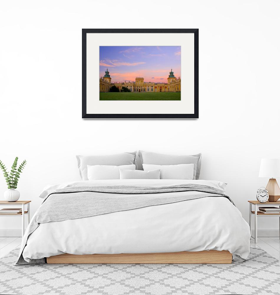 """""""Romantic sunset over beautiful palace""""  by guimo"""
