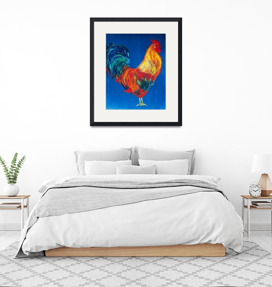 """""""Rooster/Blue"""" (2003) by vangrillo"""