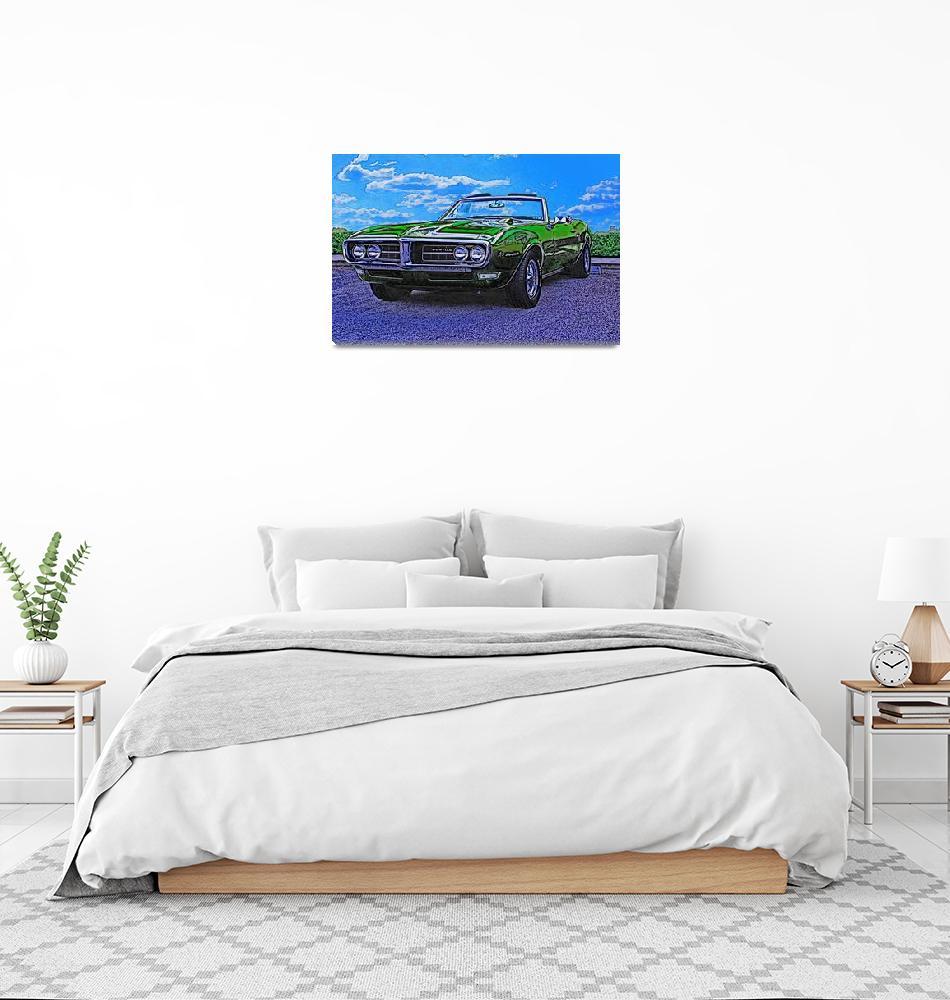 """""""1968 Pontiac Firebird""""  (2011) by Automotography"""