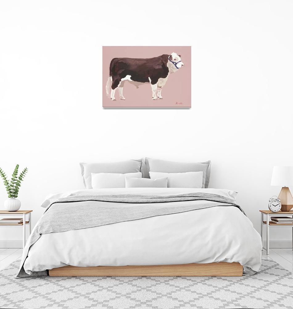 """""""Standing Bull""""  (2016) by BrettHudsonArt"""