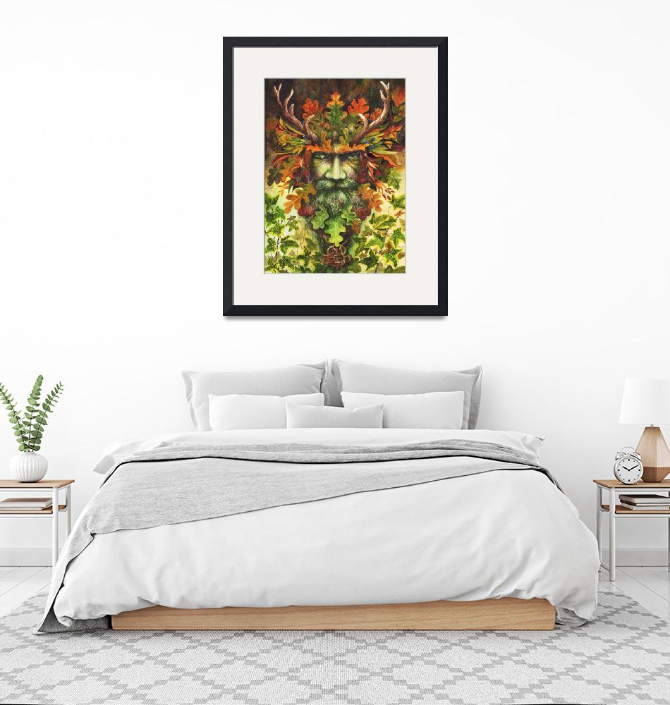 """""""The Green Man""""  (2018) by MightyFineArt"""