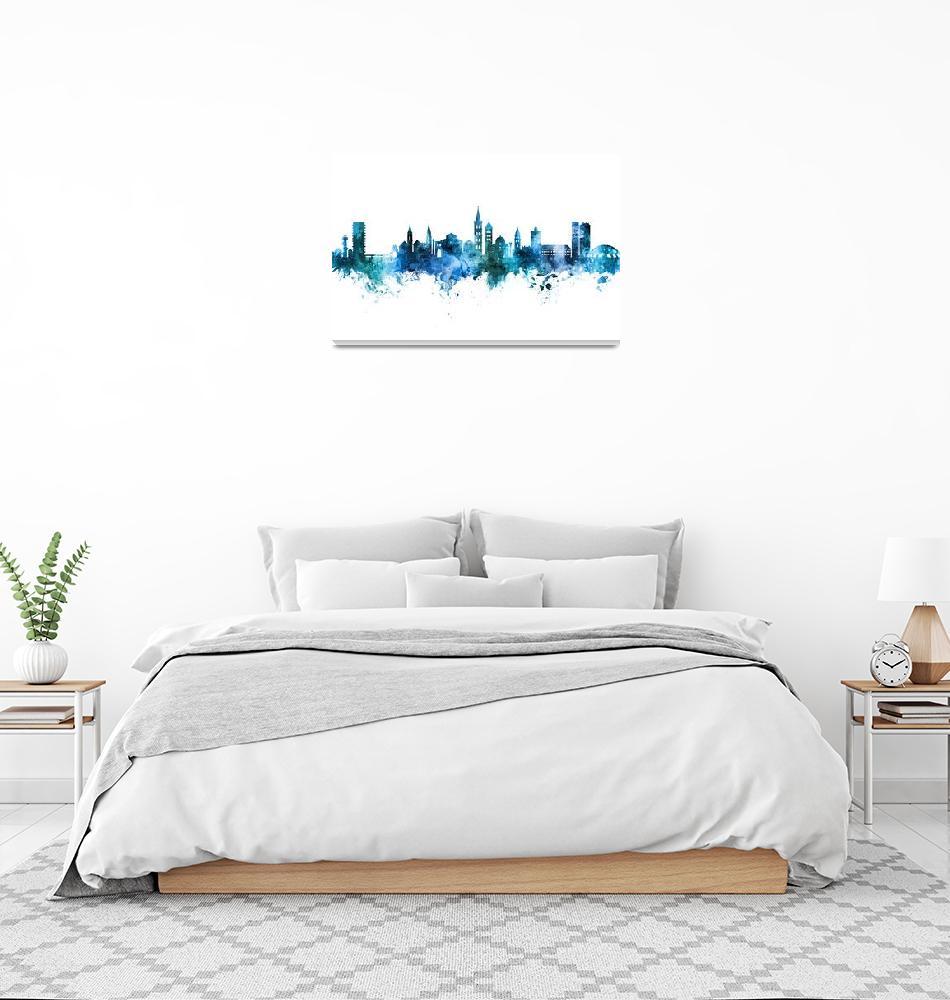"""Zadar Croatia Skyline""  (2019) by ModernArtPrints"