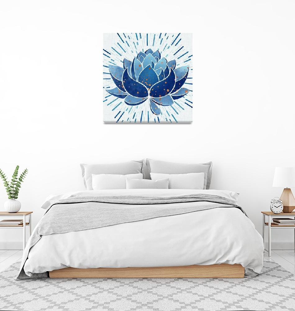 """""""Blue Lotus""""  (2018) by moderntropical"""