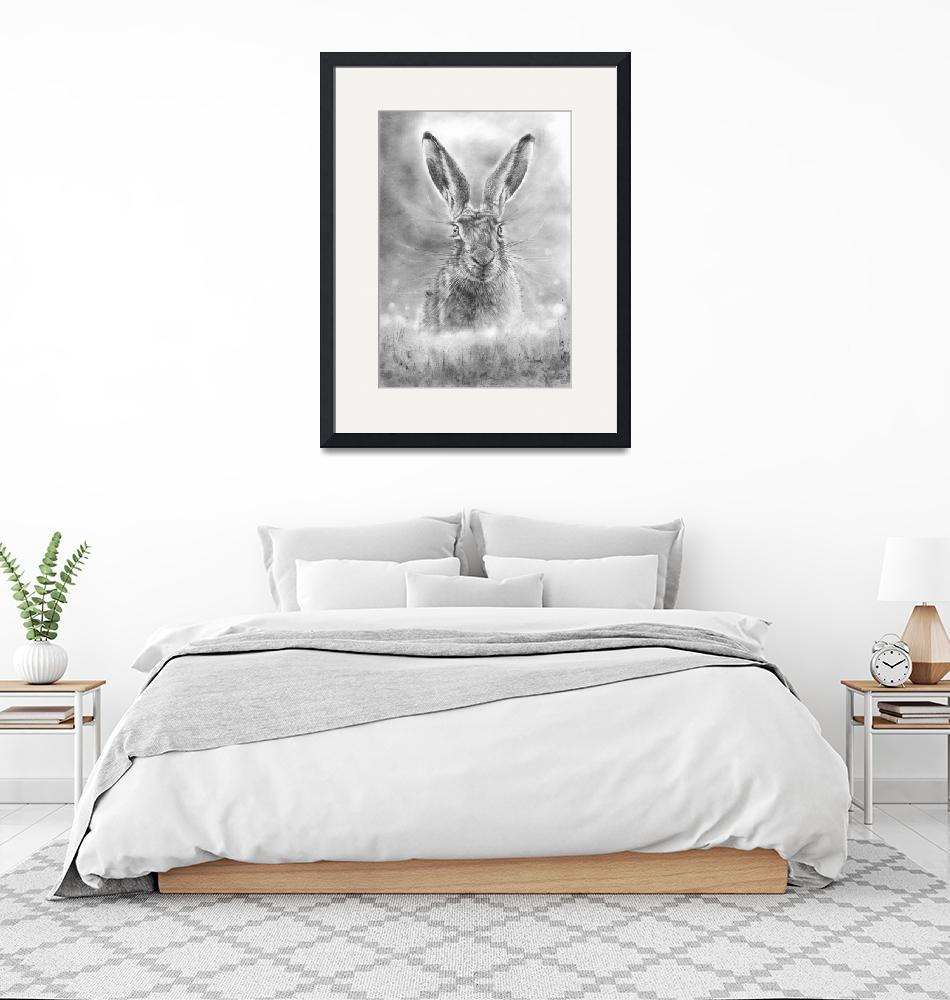 """""""Spring Hare""""  (2021) by MightyFineArt"""