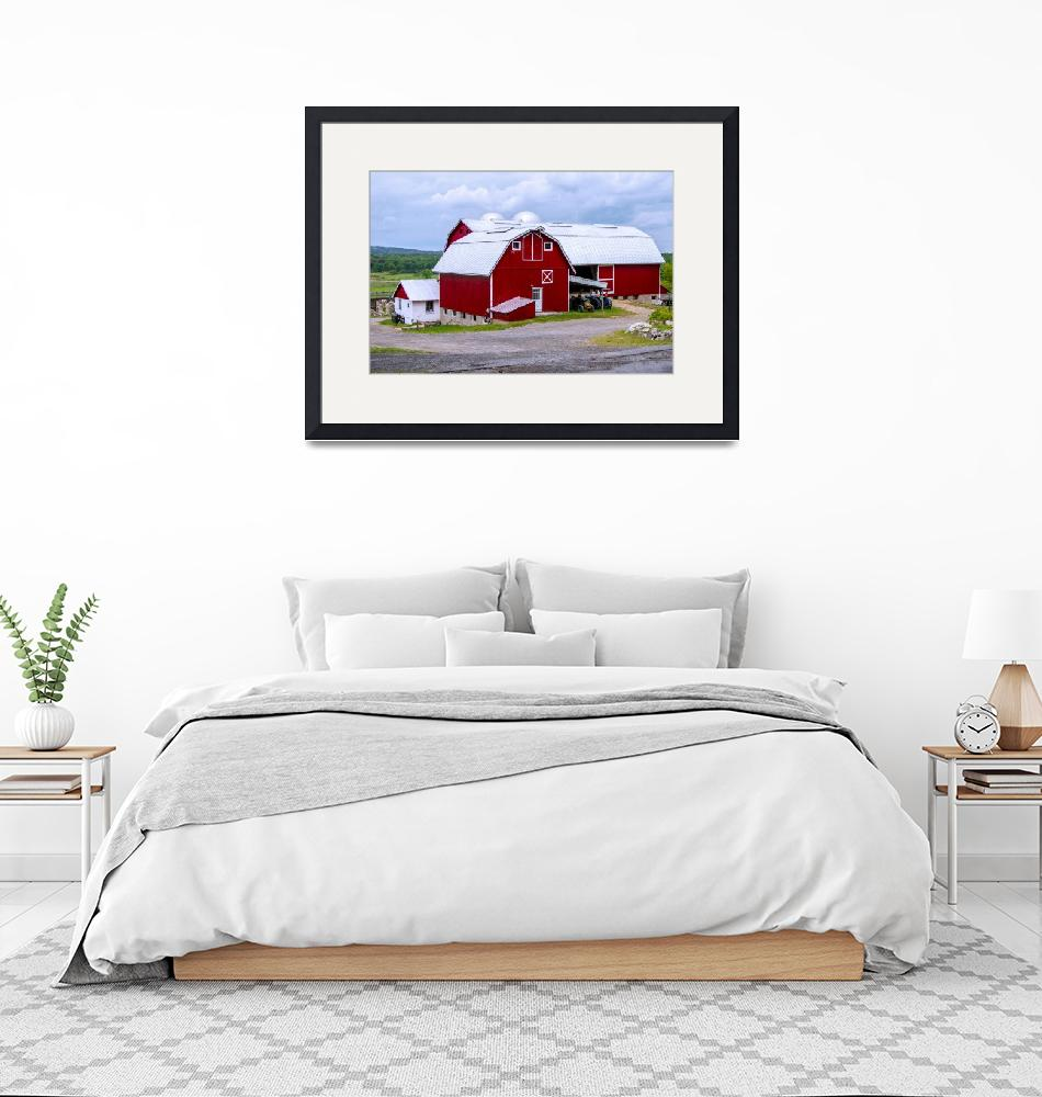 """""""Red Country Barn""""  (2016) by photocatphoto"""